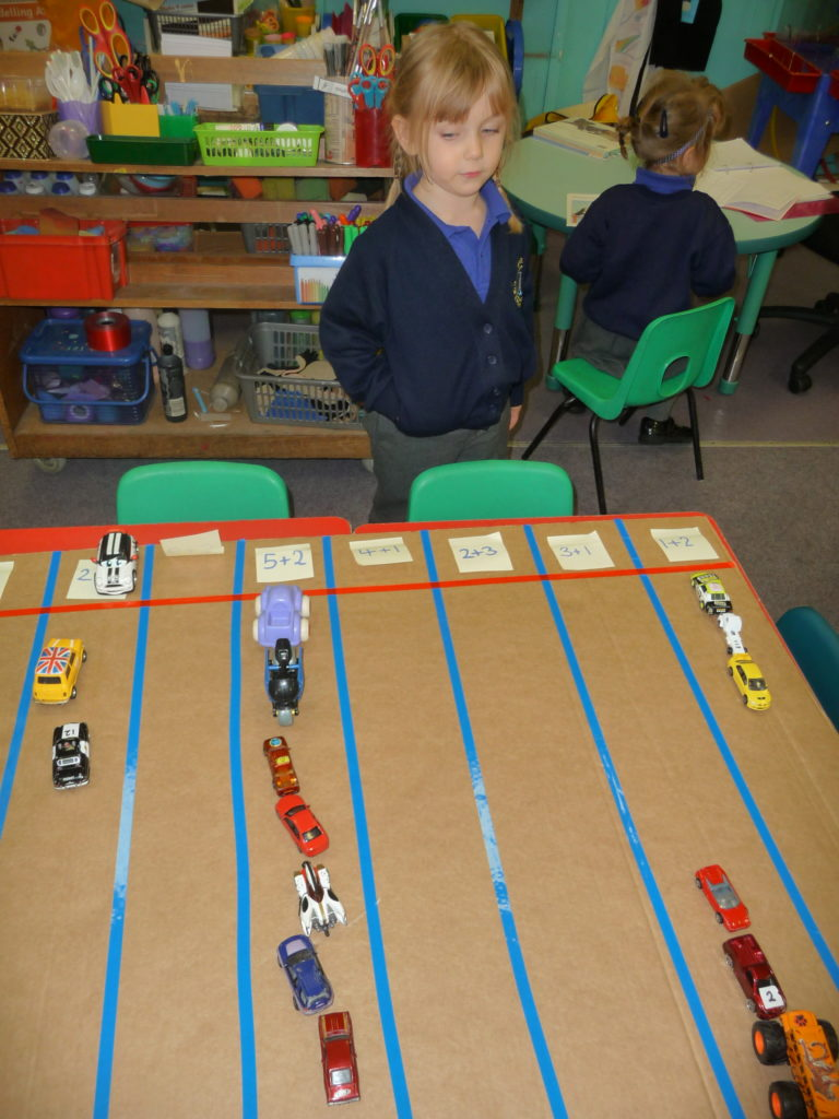 Addition with cars