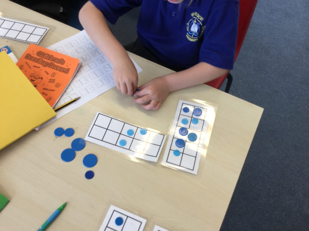 Using a Tens Frame and Counters in Maths